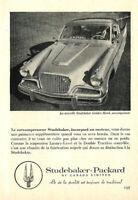 1957 STUDEBAKER-GOLDEN HAWK AUTOMOBILE ORIGINAL AD IN FRENCH