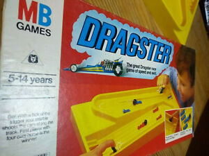 Vintage 1976 MB Games Dragster Board Game All Complete Good Condition