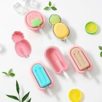 Silicone Pop Popsicle Mold Frozen Ice Lolly Mould Tray Pan Ice Cream Maker Tool