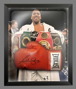 Anthony Joshua Hand Signed Red Everlast Boxing Glove In A Dome Frame : A
