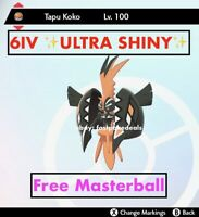 -Pokemon Sword and Shield- ✨Ultra Shiny✨ 6IV Legendary Tapu Koko FAST DELIVERY