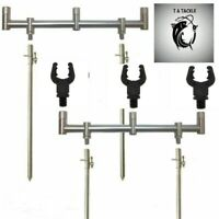 Buzz Bars Goal Post 3 Rod 30cm and 4 x 30-50cm Banksticks and 3 NGT  Rod Rests