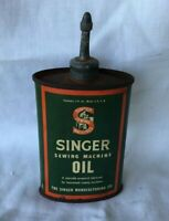 * Lead Top Household Oil Can SINGER SEWING MACHINE OIL **EMPTY**