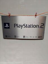 Vintage Playstation 2 Display Metal Sign New