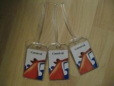 Carnival Luggage Tags - Cruise Lines Repurposed Playing Cards Name Tag Set (3)