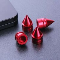 4Pcs Red Car Aluminum Tire Rim Valve Wheel Air Port Stems Cap Cover Accessories