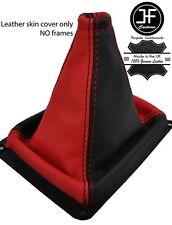 Negro y Rojo grano superior de cuero MANUAL GEAR GAITER encaja Kia Sorento MK1 02-09