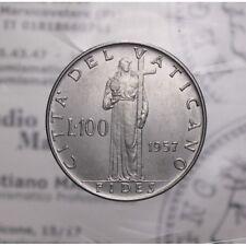 100 Lire 1957 XIX Acmonital (Vaticano - Pio XII) qFDC LOT1881