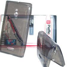 Custodia in silicone tpu invisibile fumè cover ANTIURTO per Nokia Lumia XL