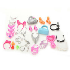 40pcs/Set Jewelry Necklace Earring Comb Shoes Crown Accessories For Barbie Dolls