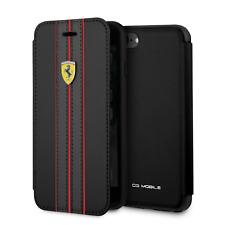 Ferrari Cartera Funda De IPHONE Se, 8 Y 7 para Teléfono Piel Sintética Negra