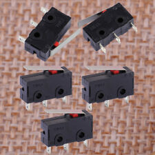 5x New Black Hinge Lever Micro Limit Switch AC 125V 5A KW4-3Z-3 Fit For Mill CNC