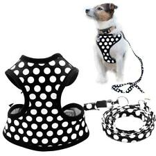 XS Puppy Harness and Leash for Small Dog Soft Mesh Pet Vest Polka Dot Reflective