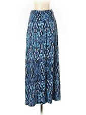 Maxi Long Skirt Fold over waist Shades of Blue size Small