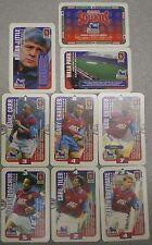 Aston Villa 8 x Subbuteo Squadre Schede 1996 HASBRO Trading Cards