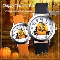 Fashion Witch Watch Casual Halloween Women Wrist Watches Leather Quartz Watches