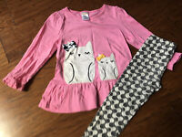 Gymboree Girls 2t Outfit Pink Owl Outfit **Super Cute**