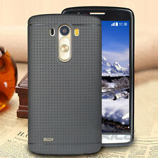 Soft Slim TPU Silicone Rubber Protective Back Case Screen Protector For LG G3 CA