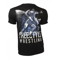 Men's FREESTYLE Wrestling Ringen Short Sleeve T-Shirt Training S-4XL