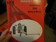 IH 1000 Balance Mower Operator's Manual NEW