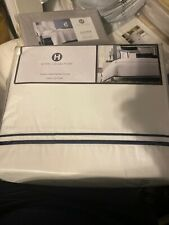Hotel Collection Coordinated Basics Embroidered Frame King Duvet Cover Navy