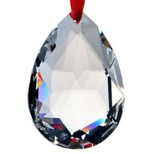 50mm Clear Crystal Chandelier Rainbow Prisms Hanging Drops Pendant Lamp Part US