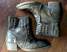 Low Boots Cloutées Noires PROMOD