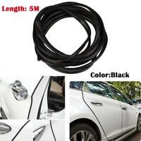 5M Car Door Boot Edge Protector Strip Trim U Shape Guard Seal Rubber Strip Black