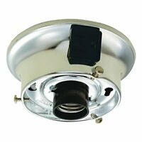 Westinghouse 700422 - 3.25 Fitter Chrome Glass Shade Fixture Kit with Outlet