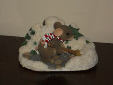 """Fitz & Floyd Charming Tails """"A Shoveling We Will Go"""" Figurine  # 87/204"""