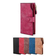 US Fashion Lady Women Leather Clutch Wallet Long Card Holder Case Purse Handbag