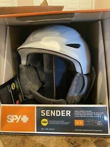 Spy Sender Snow Helmet with MIPS Brain Protection (Adult Medium | White)