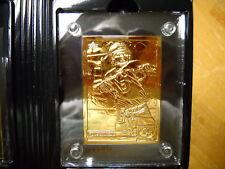 JOE MONTANA GOLD CARD # 348/500 BY HIGHLAND MINT -UPPER DECK 1992 CARD #G36