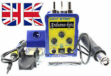Gaoyue 878D+ 220V SMD aire caliente Rework Station Digital + Estación de Soldadura 3pin enchufe de Reino Unido