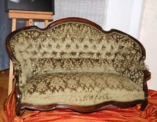 Elegantes antikes Louis Philippe Sofa um 1870 mit Originalbezug