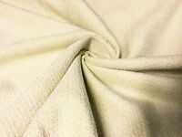 LUXURIOUS SOFT CHENILLE CREAM CURTAIN UPHOLSTERY FABRIC 2.5 METRES