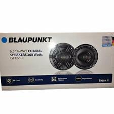 "Blaupunkt GTX650 360 W Max 6.5"" 4-Way 4 Ohm Stereo Car Audio Coaxial Speakers"