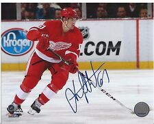 Xavier Ouellet Signed Detroit Red Wings 8x10 Photo