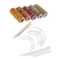 19Pcs Upholstery Sewing Kit Darning Needles And Thread For Leather Sewing