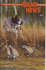 Pennsylvania Game News November 2013 cover by Gerald Putt English Pointer