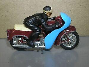 Vintage Britains TRIUMPH Speed Twin Cafe Racer Motorbike original Bike Rider ACE