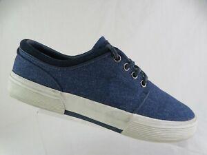 POLO RALPH LAUREN Faxon Low Blue Sz 7.5 D Men Canvas Sneakers