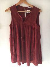 Dress Short Size 12 Rust Sleeveless Crinkle Bnwt George <T16166