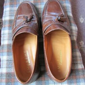 Johnston & Murphy Mens Brown Slip-On Shoes 10M  11010  Made In Italy