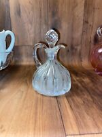 EAPG vintage pattern glass cruet bottle