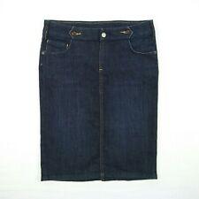 Witchery - Straight Pencil Dark Blue Stretch Denim Skirt Women's Size 6 W29
