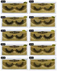 NEW 3D Mink Natural Thick False Fake Eyelashes handmade Lashes Makeup Extension