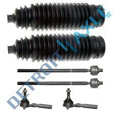 Both (4) Brand New Inner & Outer Tie Rod Ends + Tie Rod Boots for Dodge Caravan