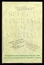 MARTIAL., Donald C Goertz / Select Epigrams of Martial First Edition 1971