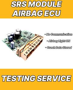 AIRBAG ECU SRS MODULE TESTING SERVICE - NO COMMUNICATION - CRASH DATA - CLONING